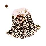 myonly - Abrigo de Invierno para niña con Estampado de Leopardo de Piel sintética y...