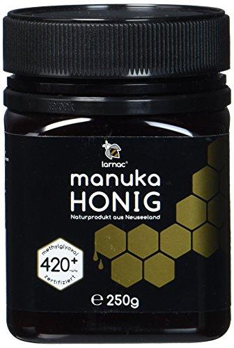 Larnac Manuka Honig 420+ MGO aus Neuseeland, 250g, zertifizierter Methylglyoxalgehalt