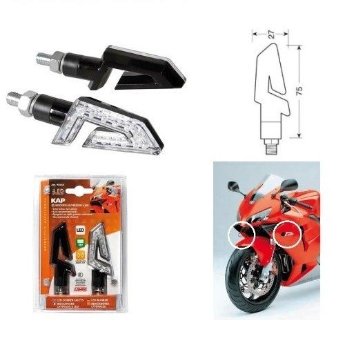 Triple-glühlampen-leuchte (Triumph Speed Triple 955 2002-2004 Frontbremse für Motorrad LED 12 V Glühlampe 90246 zugelassen Schwarz Lens weißes Licht)