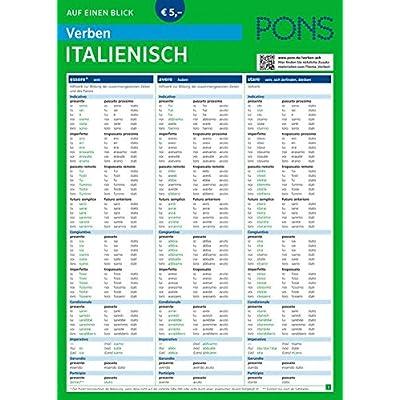 Pons Verben Auf Einen Blick Italienisch