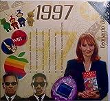 1997 Geburtstag | Jahrestags -Geschenke - 1997 Chart Hits CD und 1997 Jahr Karte