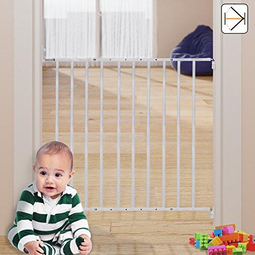 Sicherheitsgitter Kinderschutzgitter Treppenschutzgitter Absperrgitter Türschutzgitter 61-107cm