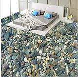 3D Boden wandbild Moderne malerei 3d boden badezimmer mural farbe natürliche kieselsteine rutschfeste wasserdichte verdickt selbstklebende pvc-tapete aufkleberboden wandaufkleber