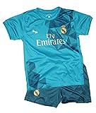 Kit Réplica Oficial - Camiseta y Pantalón - Tercera Equipación Real Madrid 2017/2018 - Dorsal - 10 Modric (12 años)