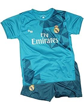 Kit Réplica Oficial - Camiseta y Pantalón - Tercera Equipación Real Madrid 2017/2018 - Dorsal - 10 Modric