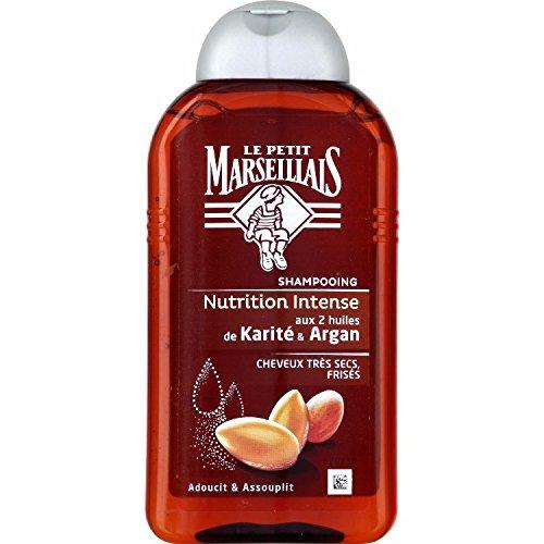 Le Petit Marseillais Shampooing Nutrition Intense Huile Karité d'Argan Cheveux Très Secs à Frises 250 ml