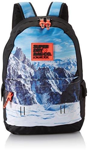 Superdry Herren Mountain Montana Rucksack, Schwarz (Black), 30.0x45.0x15.0 cm (Tasche Tessuto Schwarz)