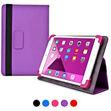 Cover HP Slate 7 / Pro Slate 8 / Pro Tablet 408 G1, COOPER INFINITE ELITE Custodia Protettiva a Libro Reversibile per Viaggi, Scuola e Ufficio con Supporto Rotante a 360 Gradi Integrato, Viola