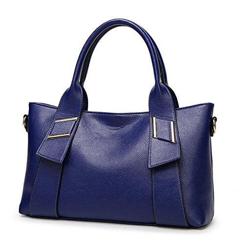 2017 Leather Satchel Borse Della Spalla Croce Body Bags Per Le Donne Messenger borsa?marrone? blu