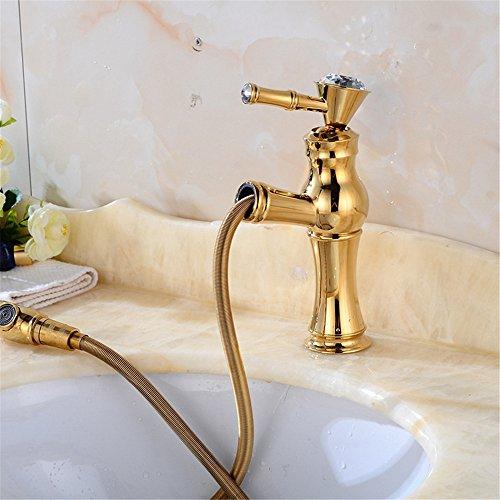 Waschbecken Einhebelmischer, chrom Badezimmer Armatur UP-Stil Europäische Metall Kupfer Bad Wasserhahn Gold