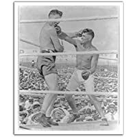 """JP London POS2473 U-Strip Peel and Stick Vintage Jack Dempsey Boxing Champ Removable Wall Decal Sticker Mural, 19.75"""" by 24"""" preiswert"""