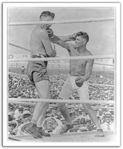 JP London Pos2473 U-strip Peel et bâton vintage Jack Dempsey de boxe Champ amovible Sticker mural Stickers muraux, 50,2 cm par 61 cm