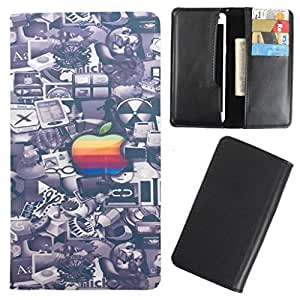 DooDa - For iberry Auxus P8000 PU Leather Designer Fashionable Fancy Case Cover Pouch With Card & Cash Slots & Smooth Inner Velvet