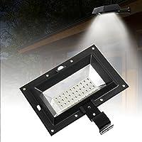 T-SUN 30 LED Luces Solares, Impermeable Luz de Pared al Aire Libre con Sensor de Movimiento, Foco Solar,Gran Ángulo 120°, Impermeable, Luz de Jardín Solar para Entrada, Patio, Garaje, Muro, Camino.(Black 6000K)
