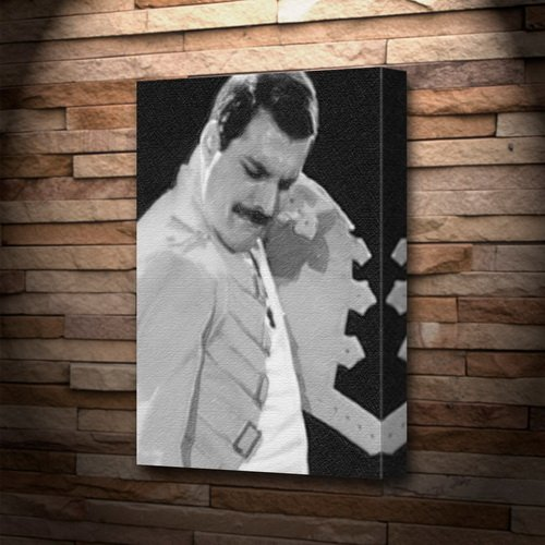 FREDDIE MERCURY - Canvas Print A4 - Signed by the