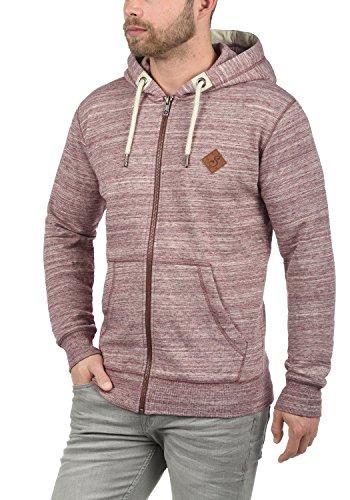SOLID Craig Herren Kapuzenpullover Hoodie Sweatshirt aus hochwertiger Baumwollmischung Meliert Wine Red (0985)