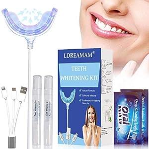Zahnaufhellung Set,Teeth Whitening Kit,weiße zähne bleaching,Bleichsystem für Weiß Zähne Zahnweiß Zahnreinigung Zahnpflege zu Hause