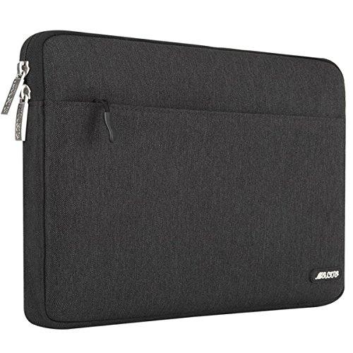 MOSISO Sleeve Hülle Kompatibel 15-15,6 Zoll MacBook Pro, Notebook Computer, Polyester Gewebe schützende Horizontal Laptophülle Schutzhülle Laptoptasche Notebooktasche, Schwarz (Microsoft Notebook-rucksack)