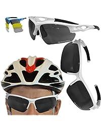 8afd4322054f3 VeloChampion Lunettes de Soleil Tornado - Bike avec 3 Paires de lentilles  interchangeables