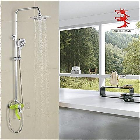 YanCui@ Rubinetti per doccia Rame placcatura sollevamento vernice colore piano tre rubinetto doccia