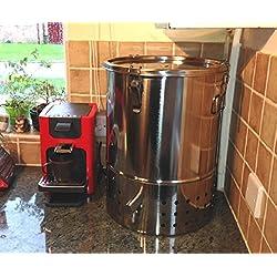 Original Organics Edelstahl-Wurmkomposter für den Innenbereich, Kompostbehälter für die Küche
