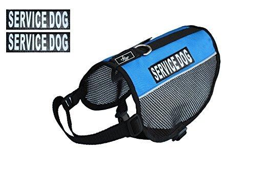 Service Hund Vest Mesh Harness Cool Comfort Nylon für Hunde klein medium Große Kauf kommt mit 2Reflektierende Service Hund pathces. Bitte Messen Sie Ihren Hund vor Bestellung (Harness Service-hund Kleine)