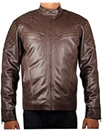 THE CLOWNFISH Cowboy Biker's Faux Leather Jacket