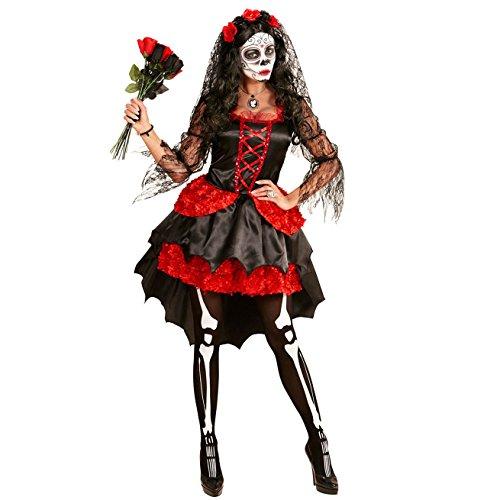 senen Kostüm Dia De Los Muertos Braut, L (Tag Der Toten Kostüm)