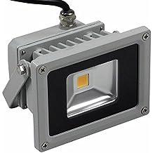Faro faretto a led per esterno alta luminosità illuminazione luce bianca fredda 10 (Luminoso Smalto Di Colore)