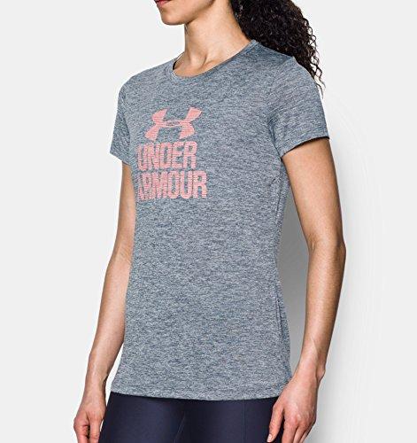 Under Armour T-shirt Twist manches courtes Femme Rhino Gray