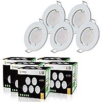 LOT DE 20 SPOT LED ENCASTRABLE COMPLETE RONDE FIXE eq. 50W LUMIERE BLANC NEUTRE
