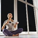 selbstklebende Sonnenschutzfolie (99% UV-block) UV-Blocker Folie für Fenster, Hitzeschutz (blockt 99% der UV-Strahlen), UV-Schutzfolie, Wärmeschutz, hellschwarz, Fancy-fix,76cm x 300cm