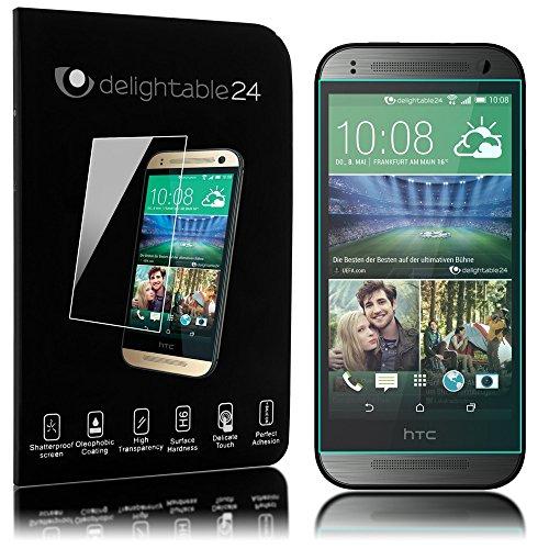 delightable24 Pellicola Protettiva Vetro Temprato Glass Screen Protector SmartphoneHTC ONE MINI 2 - Transparente