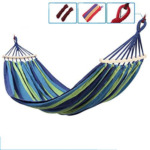 Hamacs Grand lit en Bois pour Camping-Car en Bois avec Barres en Bois Splitter (Couleur : Bleu, Taille : 150cm)
