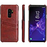 Samsung Galaxy S9 Plus Case,Samsung Galaxy S9 Plus Case,Protector Premium PU Leather Wallet Snap Case Protector Protector Flip Case Compatible With Samsung Galaxy S9 Plus Brown