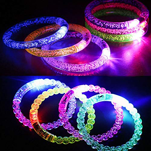 BeesClover Mädchen Ringlampe Glow Flash Peacock Fluoreszenz Ring Glow im Dunkeln Party Supplies Illuminated Bracelet (2 Models) 24pcs/Box (Halloween-kostüm Kind Peacock)