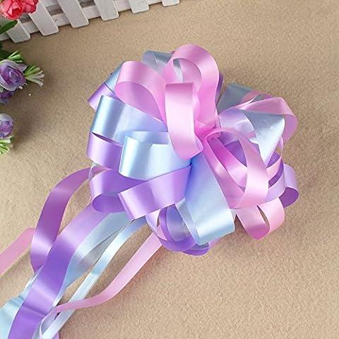 Pull Bögen 10PCS Geschenk Verpackung Auto Dekoration Breite 18cm × Länge 50cm Blau / Violett