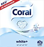Coral White + Pulver 40 Waschladungen, 2er Pack (2 x 20 Waschladungen)
