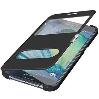 Avcibase 4260445688263 Wallet Schutzhülle mit Fenster für Samsung Galaxy S6 Edge pink
