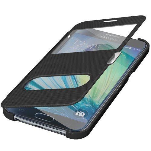 Avcibase 4260445688386 Wallet Schutzhülle mit Fenster für Samsung Galaxy Note 4 schwarz