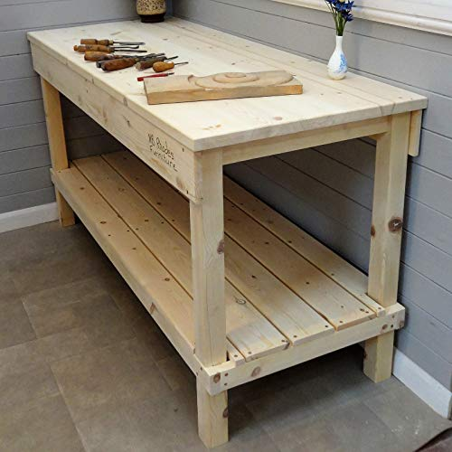 Werkbank aus Holz, 0,7 m - 2,1 m, 33 mm dicke Oberseite, Size=1.4m x 0.87m £555, Vice=No vice, 1