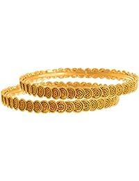 JFL- Traditional Ethnic One Gram Gold Plated Spiral Designer Bangles For Women