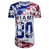 Moonuy,Männer Kurzarm T-Shirt, Junge Sommer Fußball American Flag Print Brief Top Lange Bluse Wort Cup Fan Shirt Stilvolle Fashion & Sport Pullover (EU 34 / Asien S, C)