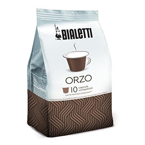 Bialetti 97000004 Nespresso-Kapseln Orza - Getreidekaffee, 10 Stück