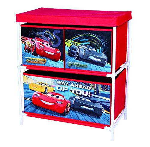 Disney pixar cars 3 42663-s - armadietto con 3 cassetti, colore: rosso