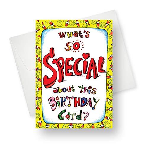 karten zum Geburtstag, hochwertig, mit einzigartigem lebendigen Design, 14 x 19 cm, 175 Stück ()