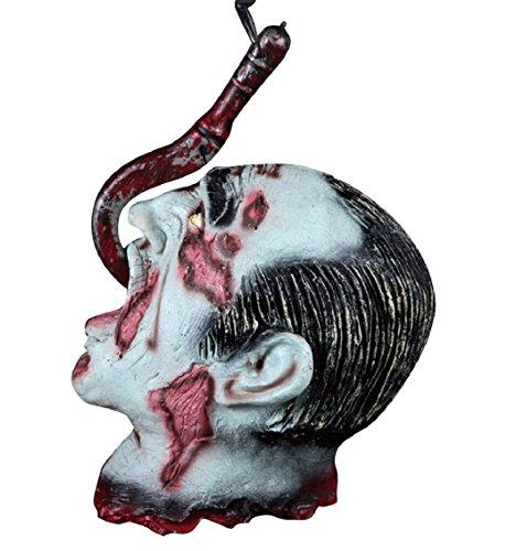 Tongshi Halloween Horror Requisiten blutigen Haunted House Party Dekoration Scary Maske (Kostüme Günstige Clown Scary)