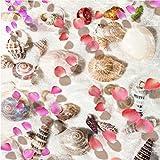 Mddjj Pvc Selbstklebende Wasserdichte 3D Bodenfliesen Wandbild Tapete Muscheln Blütenblätter Wohnzimmer Badezimmer 3D Bodenbelag Tapeten Home Decor - HD-Druck - Modern dekorativ - Natur-120X100cm