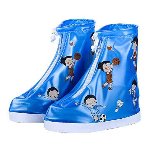 Cubrezapatos Impermeables Botas de Agua para Niños, Cubierta de Zapato Antideslizante Rain Shoe Covers...