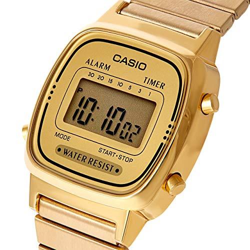Casio orologio digitale donna con cinturino in acciaio inox la670wega-9ef